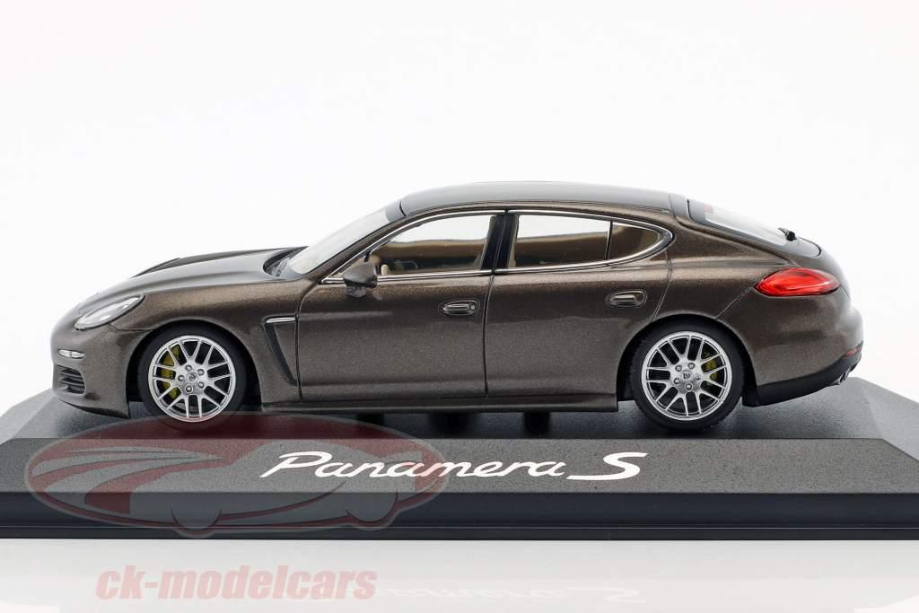 Porsche Panamera S Gen. II année de construction 2014 brun métallique 1:43 Minichamps