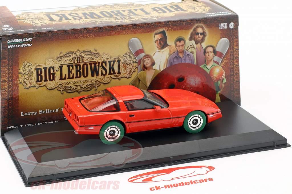 Larry Sellers' Chevrolet Corvette C4 Opførselsår 1985 The Big Lebowski (1998) rød / grøn 1:43 Greenlight