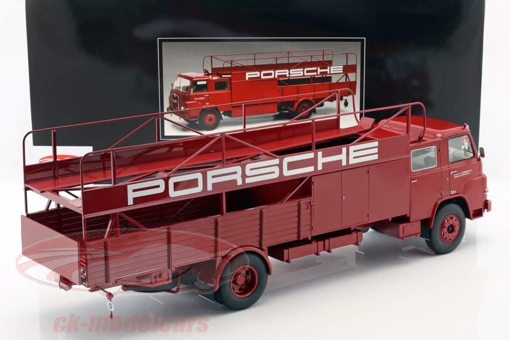 2-Car Set MAN 635 Race Truck and Mercedes-Benz L319 Porsche Racing Service 1:18 Schuco / Norev