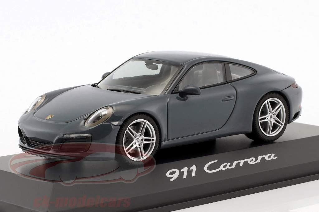 Porsche 911 (991 II) Carrera Coupe 建设年份 2016 石墨 蓝色 1:43 Herpa