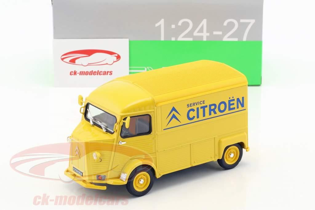 Citroen HY Citroen Service ano de construção 1962 amarelo / azul 1:24 Welly
