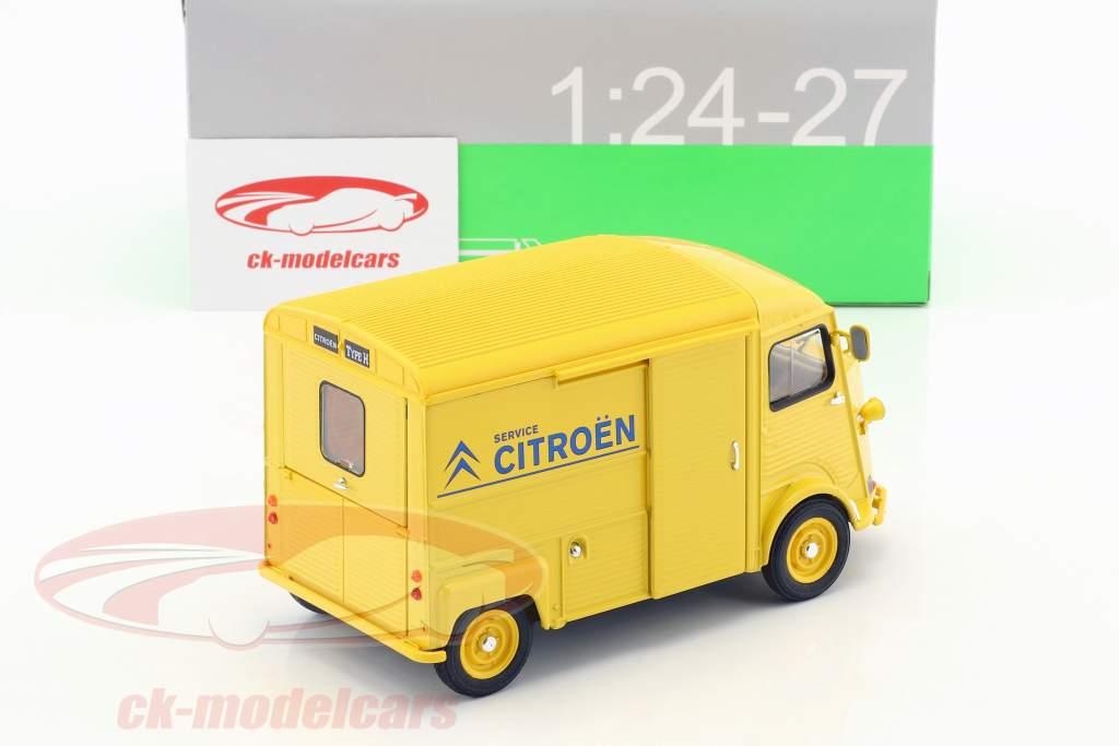 Citroen HY Citroen Service Opførselsår 1962 gul / blå 1:24 Welly