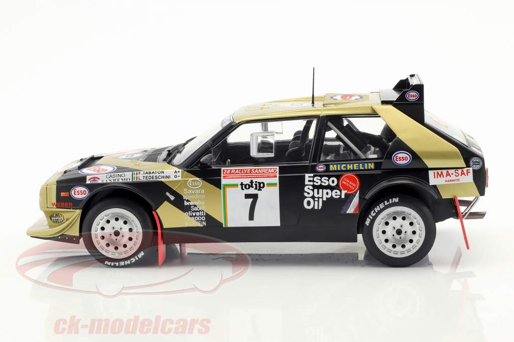 rally San Remo tabaton//Tedeschini 1:18 triple 9 Lancia Delta s4 #7