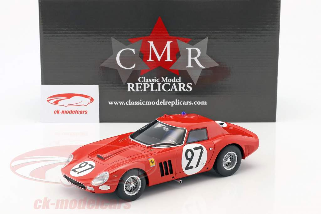 Ferrari 250 GTO 64 #27 9th 24h LeMans 1964 Tavano, Grossmann 1:18 CMR