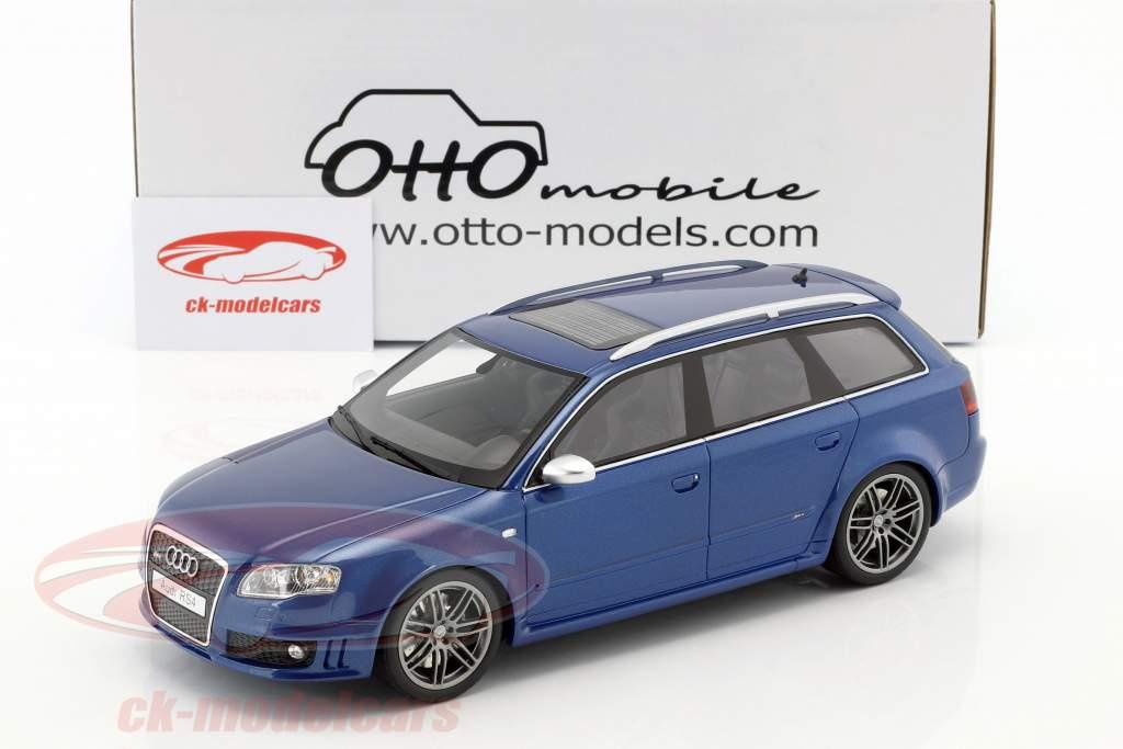 Audi RS4 B7 ano de construção 2005 Sepang azul metálico 1:18 OttOmobile