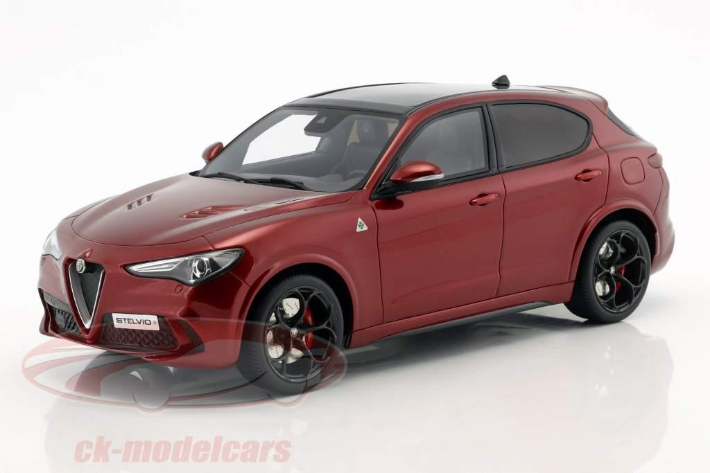 Alfa Romeo Stelvio Quadrifoglio année de construction 2017 rouge métallique 1:18 OttOmobile
