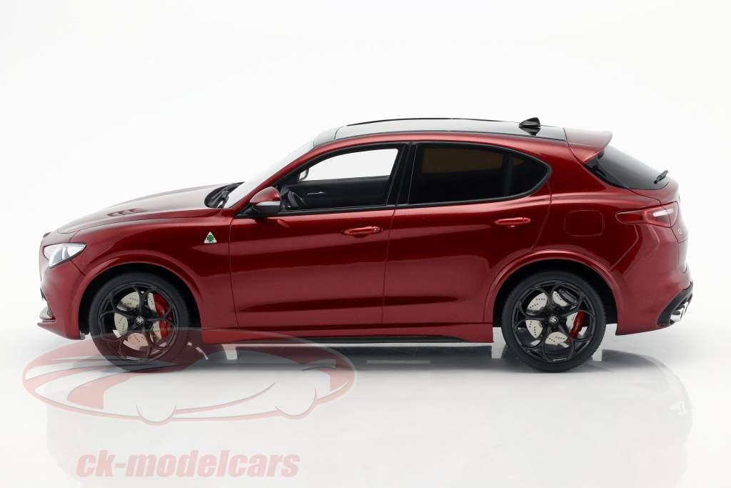 Alfa Romeo Stelvio Quadrifoglio year 2017 red metallic 1:18 OttOmobile