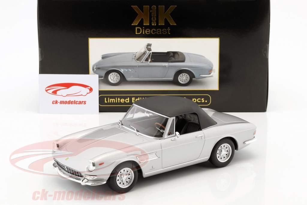 Ferrari 275 GTS Pininfarina Spyder med legering fælge Opførselsår 1964 sølv 1:18 KK-Scale