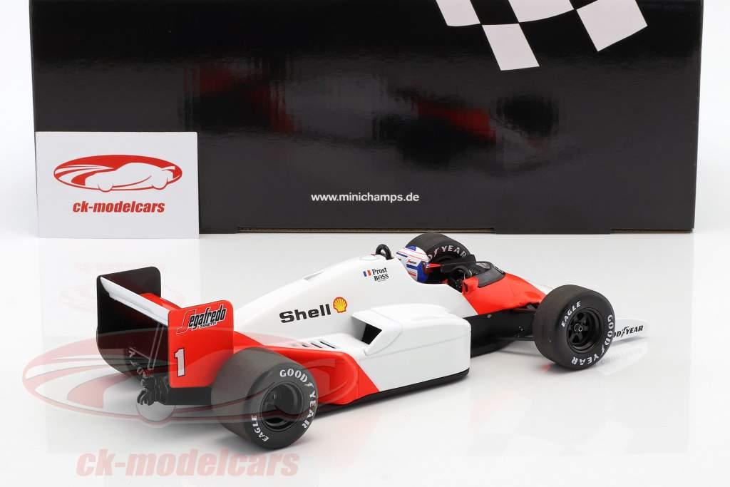 Alain Prost McLaren MP4/2C #1 campeão do mundo fórmula 1 1986 1:18 Minichamps