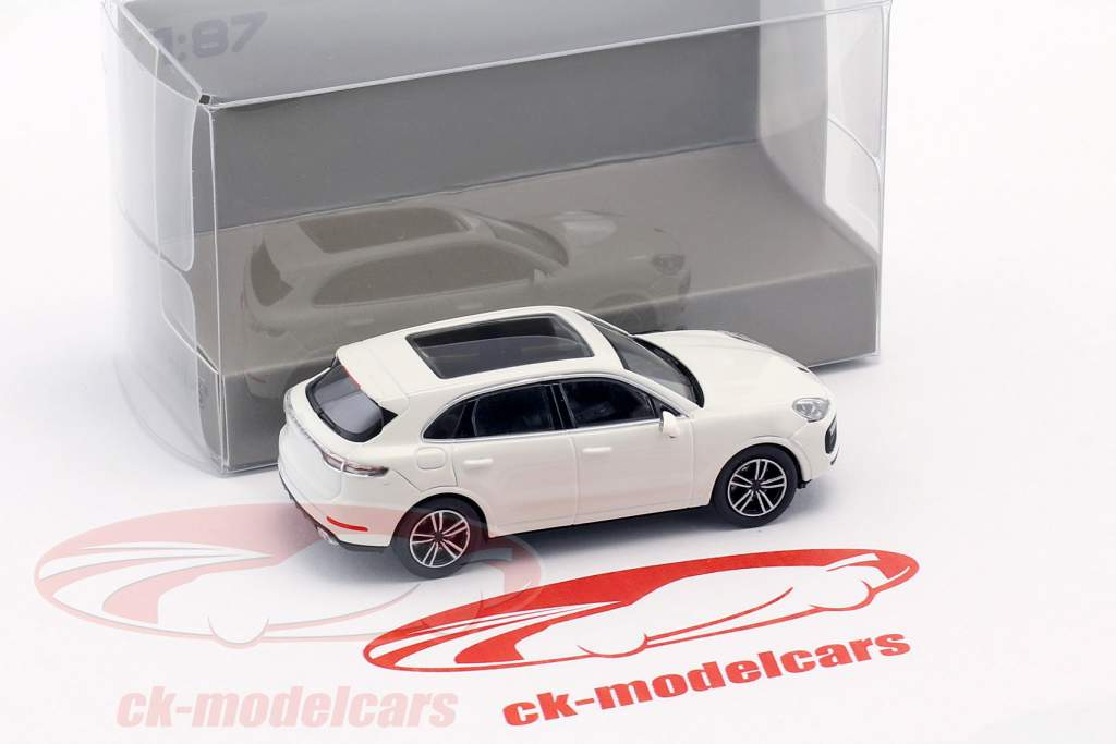 Porsche Cayenne Turbo ano de construção 2017 branco 1:87 Minichamps