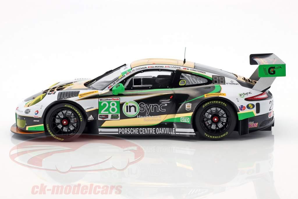 Porsche 911 (991) GT3 R #28 Class Winner 24h Daytona 2017 Alegra Motorsports 1:18 Minichamps