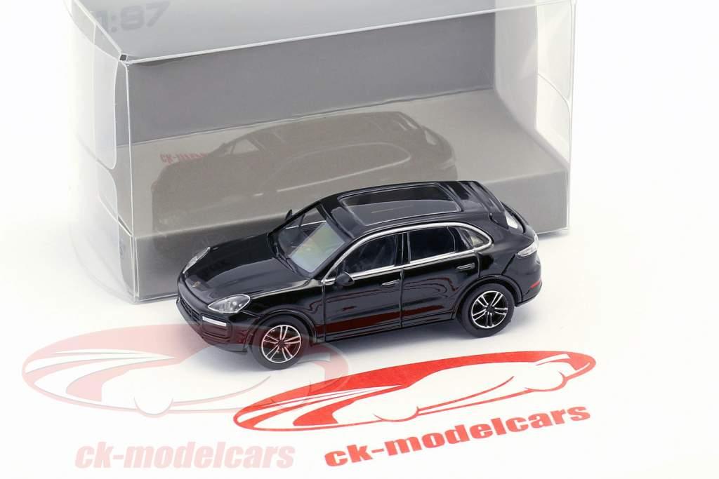Porsche Cayenne Turbo année de construction 2017 noir 1:87 Minichamps