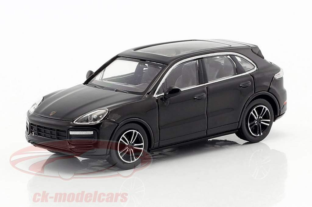 Porsche Cayenne Turbo ano de construção 2017 preto 1:87 Minichamps