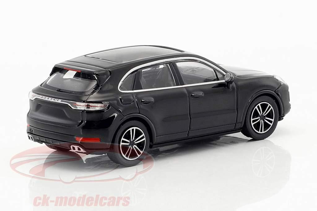 Porsche Cayenne Turbo year 2017 black 1:87 Minichamps