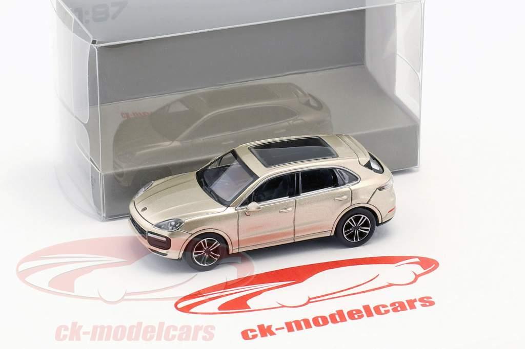 Porsche Cayenne Turbo year 2017 gray metallic 1:87 Minichamps