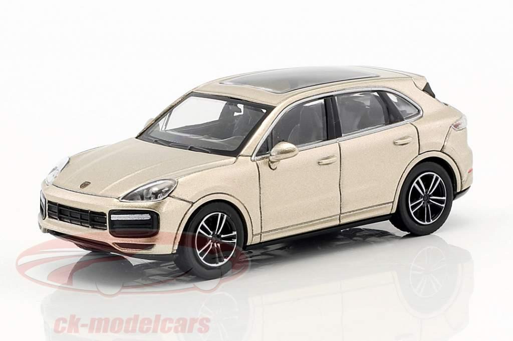 Porsche Cayenne Turbo année de construction 2017 gris métallique 1:87 Minichamps