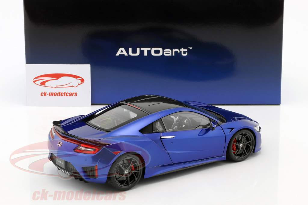 Honda NSX (NC1) Opførselsår 2016 blå metallisk 1:18 AUTOart