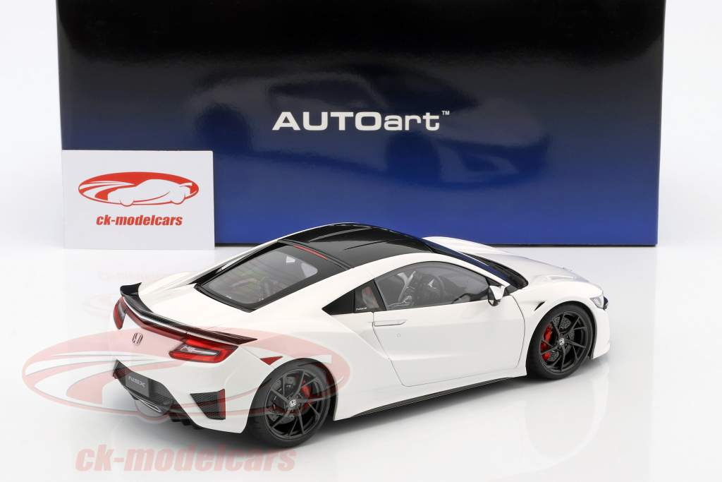 Honda NSX (NC1) Opførselsår 2016 hvid 1:18 AUTOart