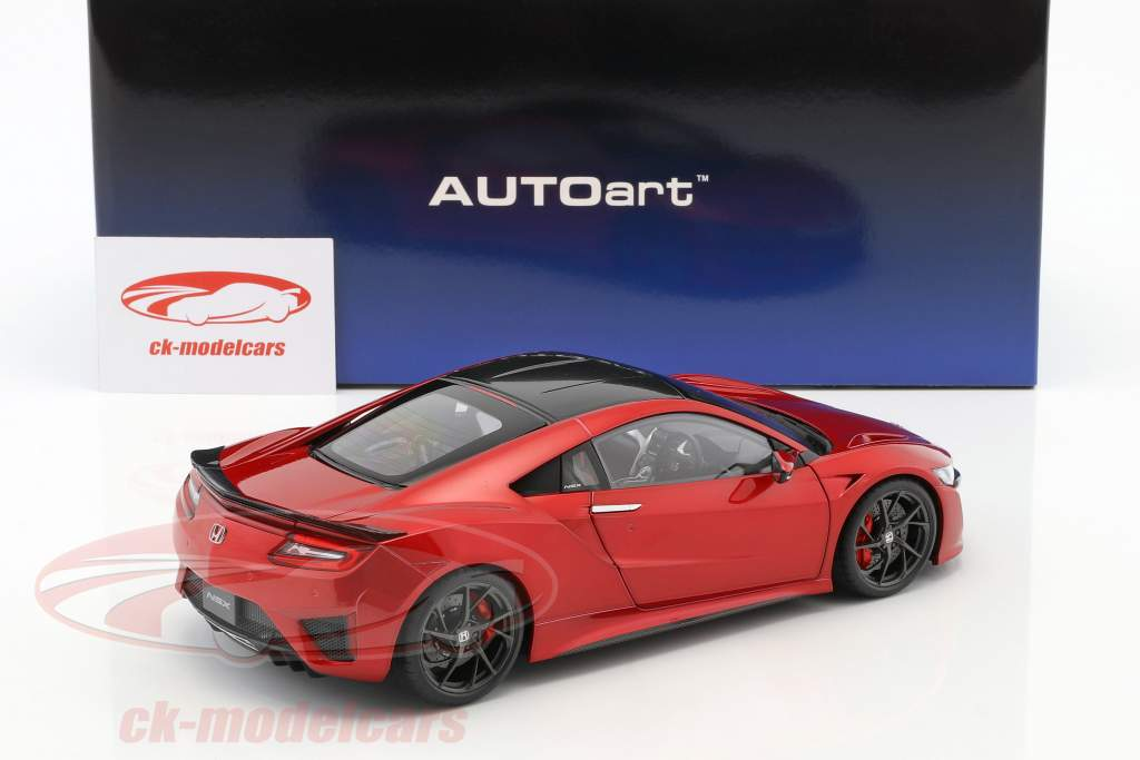 Honda NSX (NC1) Bouwjaar 2016 rood metalen 1:18 AUTOart