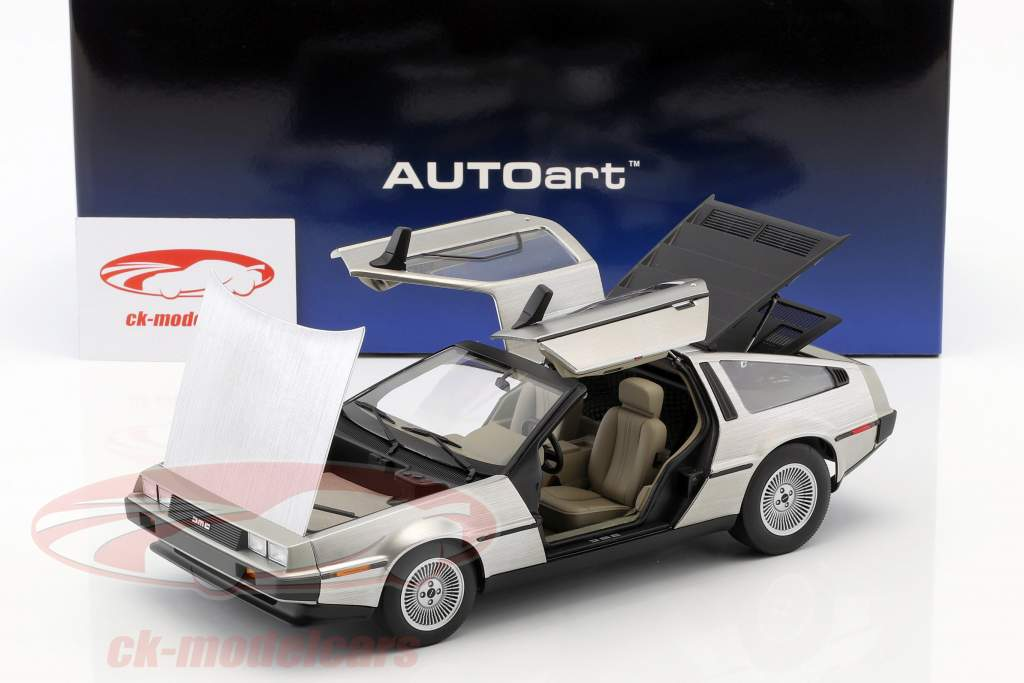 DeLorean DMC-12 año de construcción 1981 aburrido plata 1:18 AUTOart