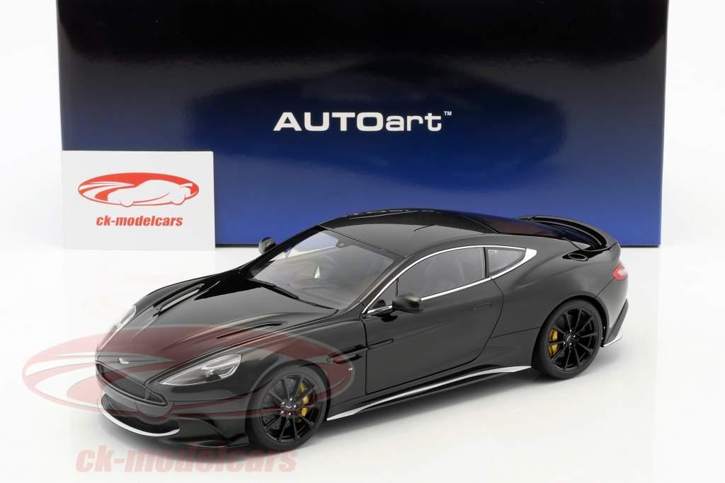 Aston Martin Vanquish S Opførselsår 2017 onyx sort 1:18 AUTOart