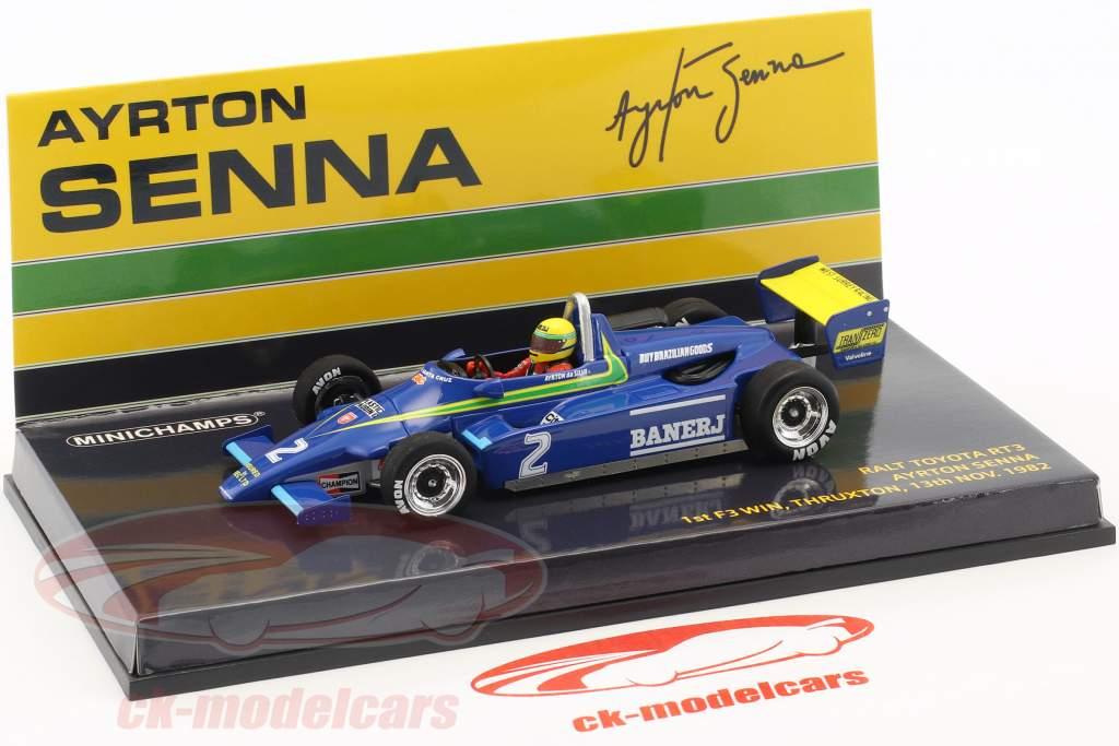 Ayrton Senna Ralt Toyota RT3 #2 1er F3 Win Thruxton 1982 1:43 Minichamps