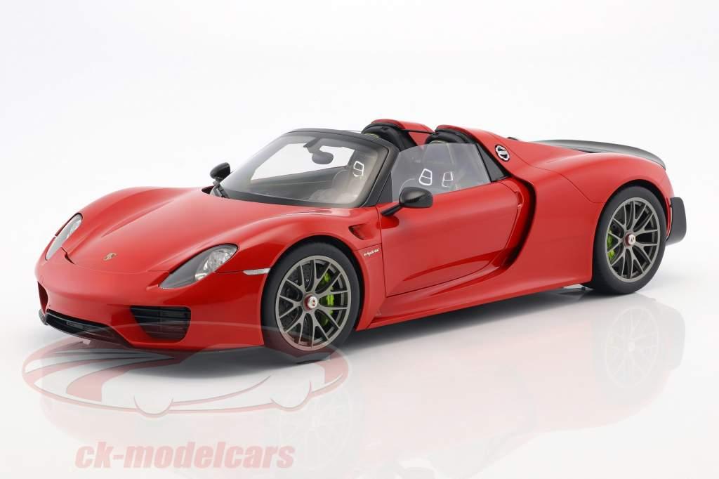 Porsche 918 Spyder Weissach pakke Opførselsår 2013 vagter rød 1:12 AUTOart