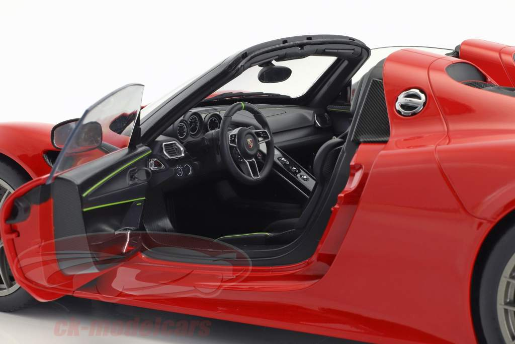 Porsche 918 Spyder Weissach verpakking Bouwjaar 2013 bewakers rood 1:12 AUTOart