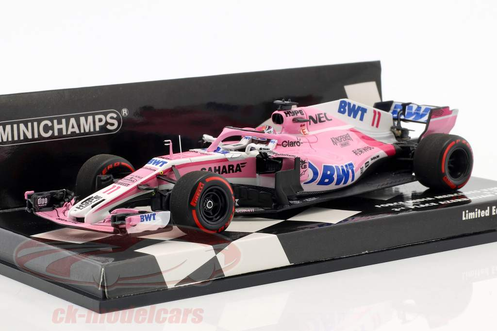 Sergio Perez Force India VJM11 #11 3 Azerbaïdjan GP formule 1 2018 1:43 Minichamps