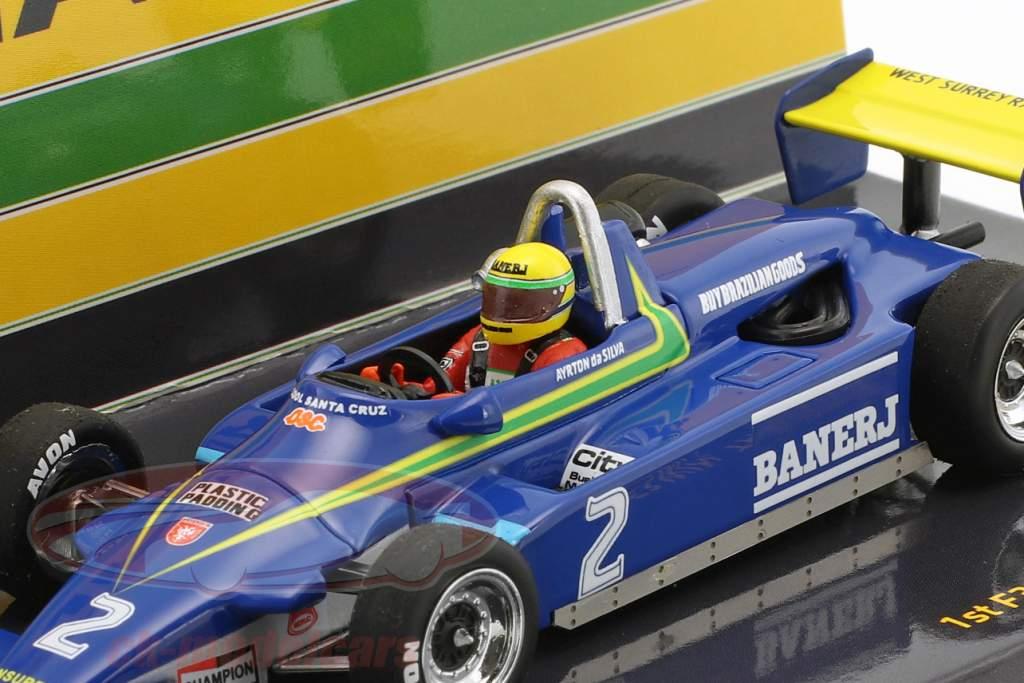 Ayrton Senna Ralt Toyota RT3 #2 primero F3 Win Thruxton 1982 1:43 Minichamps