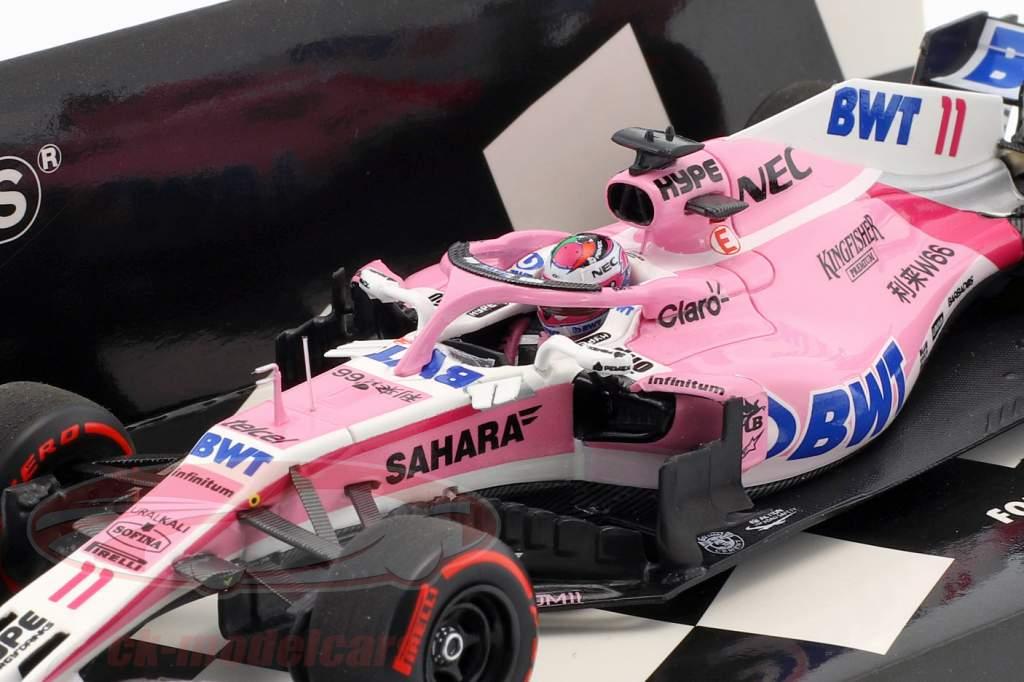 Sergio Perez Force India VJM11 #11 3ª Azerbaijão GP fórmula 1 2018 1:43 Minichamps