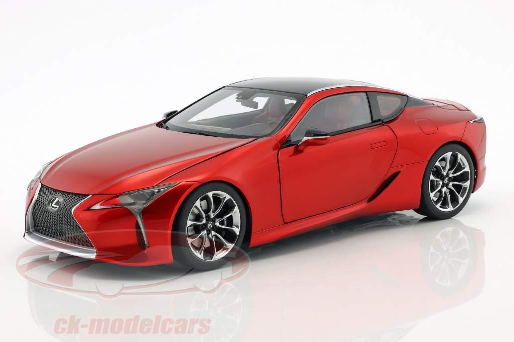 Lexus LC 500 Baujahr 2017 rot metallic 1:18 AUTOart