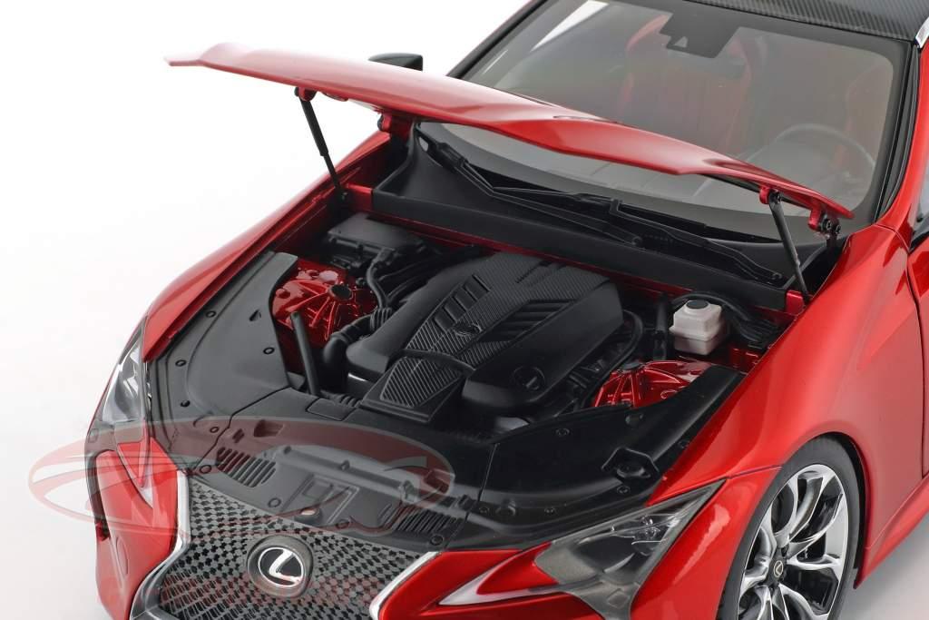 Lexus LC 500 año de construcción 2017 rojo metálico 1:18 AUTOart