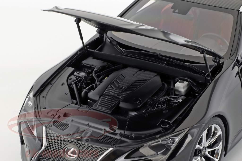 Lexus LC 500 ano de construção 2017 preto 1:18 AUTOart