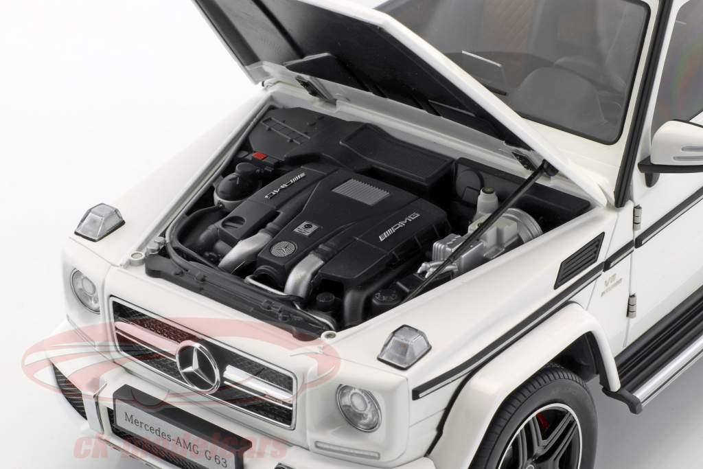 Mercedes-Benz AMG G63 Opførselsår 2017 skinnende hvid 1:18 AUTOart