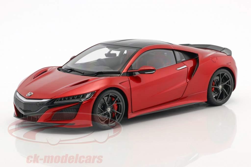 Honda NSX (NC1) Opførselsår 2016 rød metallisk 1:18 AUTOart