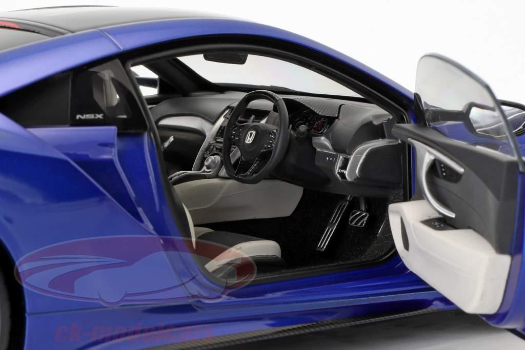 Honda NSX (NC1) ano de construção 2016 azul metálico 1:18 AUTOart
