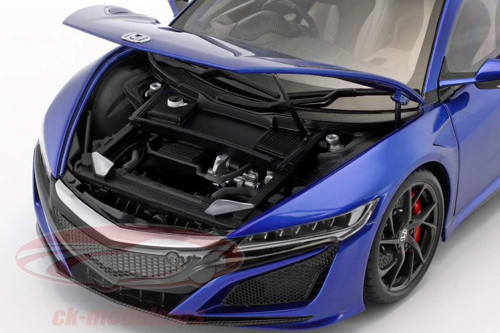 Honda NSX (NC1) Bouwjaar 2016 blauw metalen 1:18 AUTOart