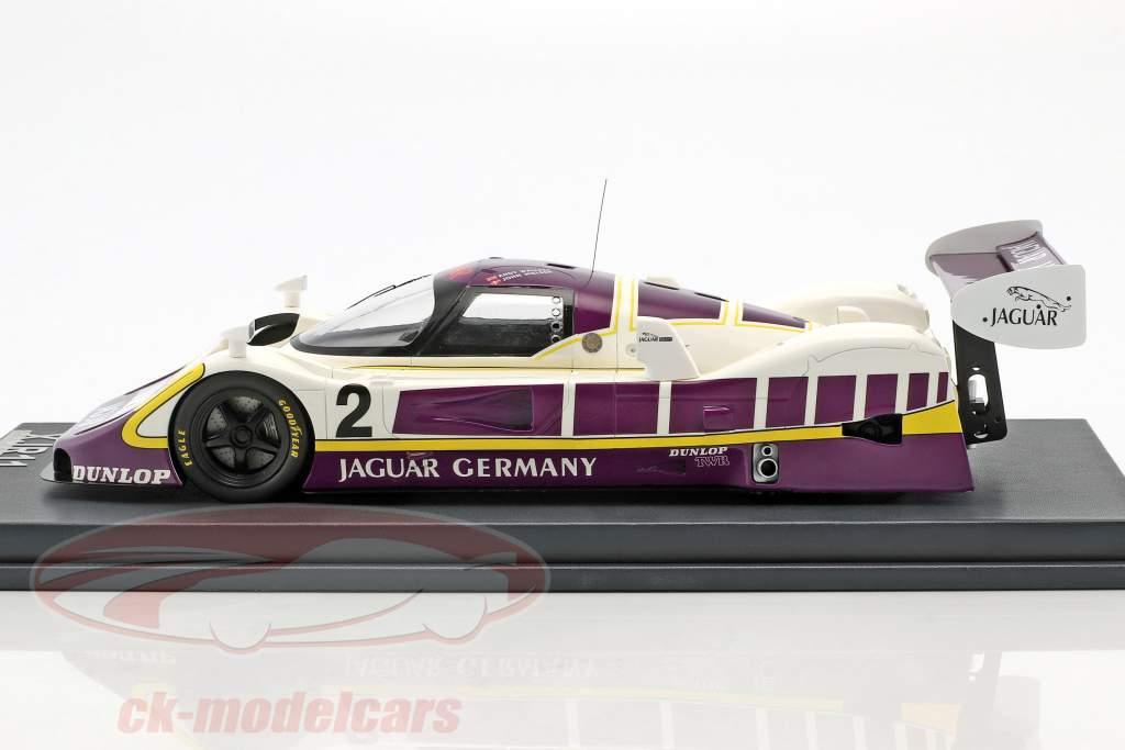 Jaguar XJR11 #2 5 480km Nürburgring 1989 Walace, Nielsen avec vitrine 1:18 MCW