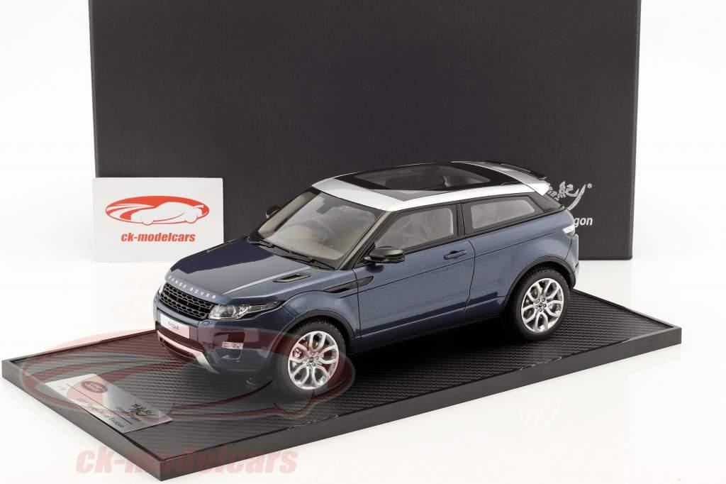 Land Rover Range Rover Evoque Opførselsår 2011 baltic blå 1:18 Century Dragon