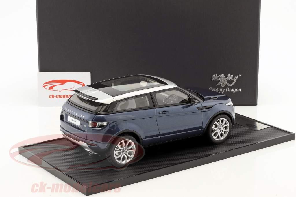 Land Rover Range Rover Evoque year 2011 baltic blue 1:18 Century Dragon