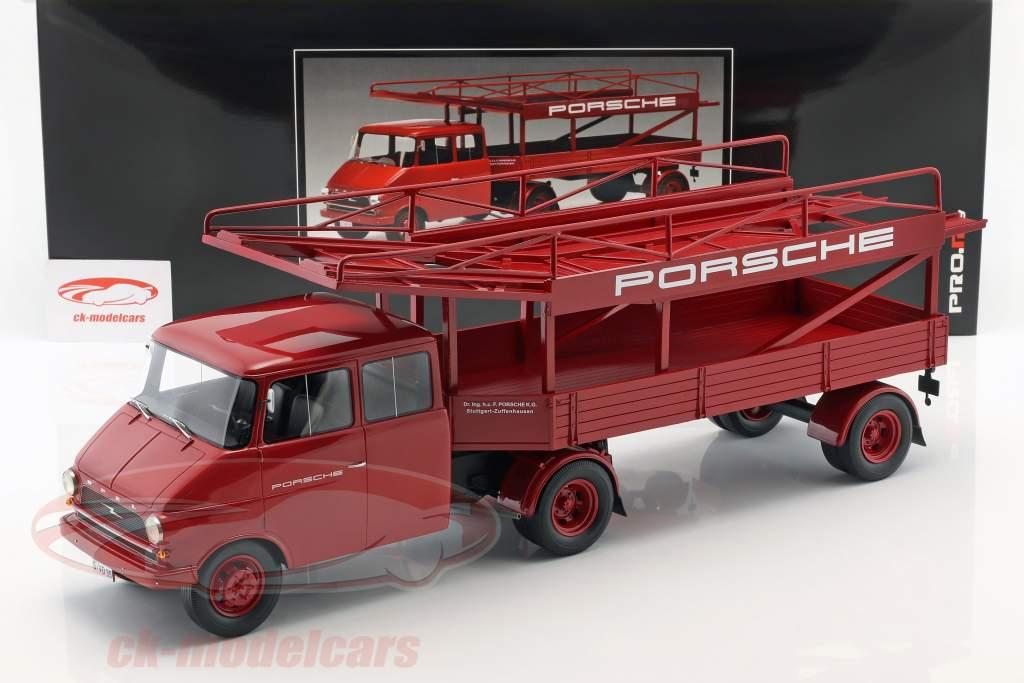 schuco 1 18 opel blitz camion voiture transporteur porsche rouge 450008400 mod le voiture. Black Bedroom Furniture Sets. Home Design Ideas