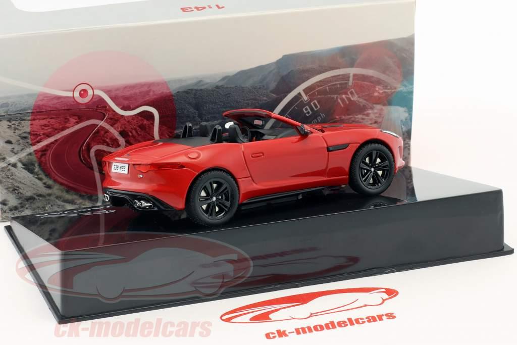 Jaguar F-Type V8-S Cabriolet Bouwjaar 2013 salsa rood 1:43 Ixo