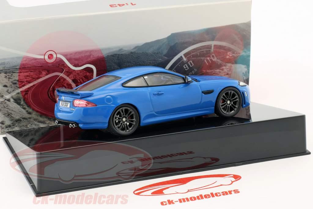 Jaguar XKR-S anno di costruzione 2011 french racing blu 1:43 Ixo