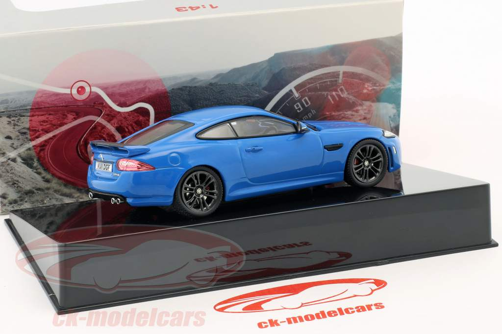 Jaguar XKR-S year 2011 french racing blue 1:43 Ixo