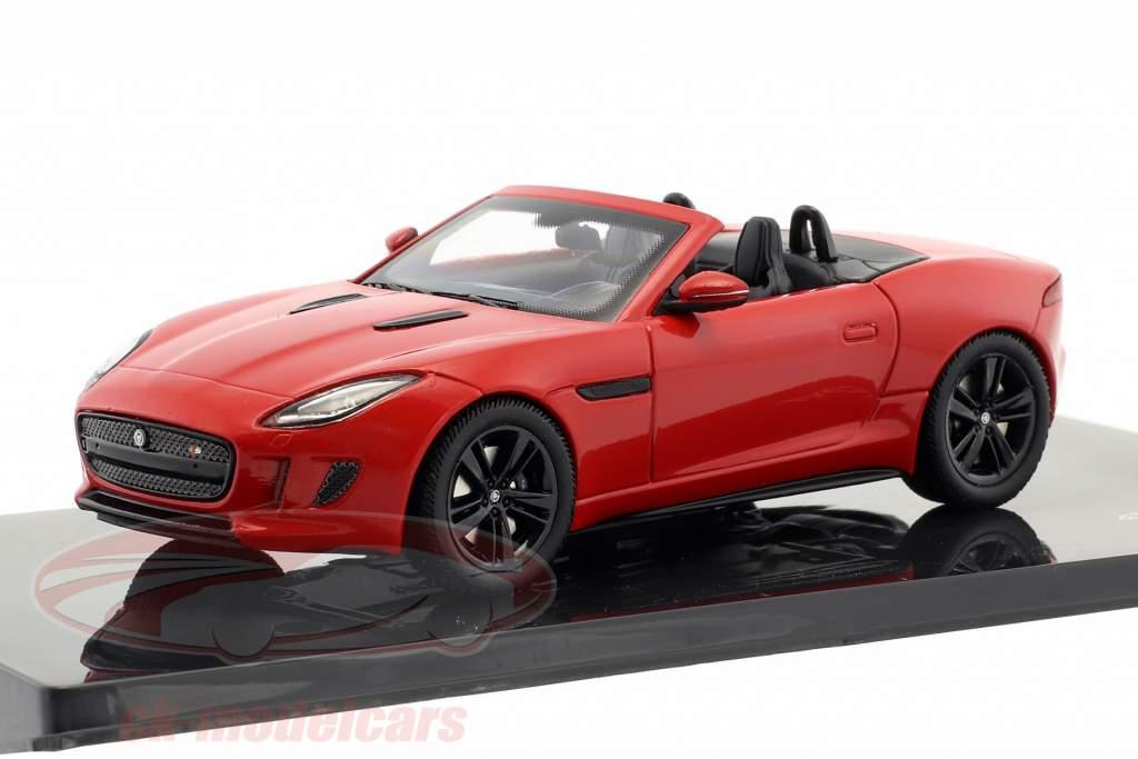 Jaguar F-Type V8-S Cabriolet Opførselsår 2013 salsa rød 1:43 Ixo