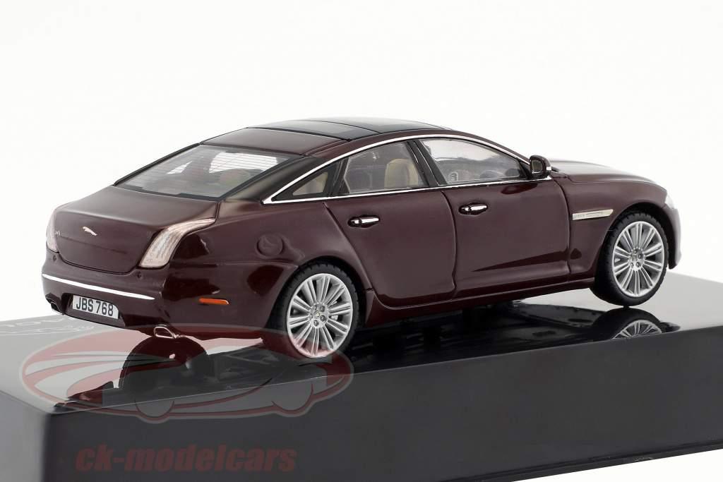 Jaguar XJ (X351) année de construction 2009 caviar / bordeaux 1:43 Ixo