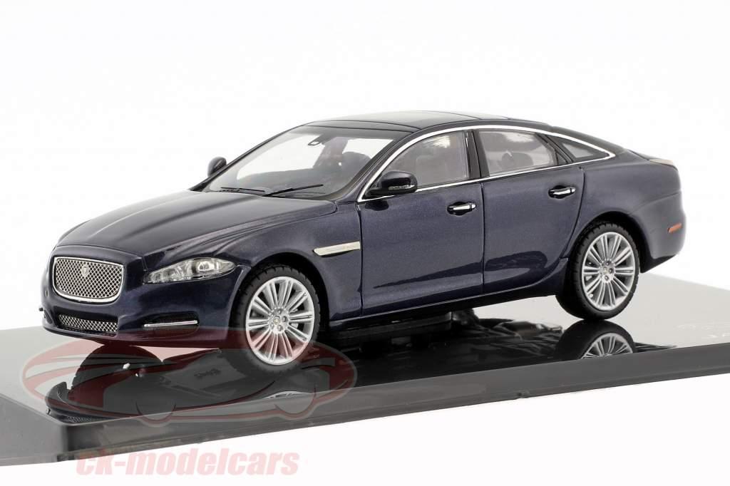 Jaguar XJ (X351) year 2009 dark sapphire blue 1:43 Ixo