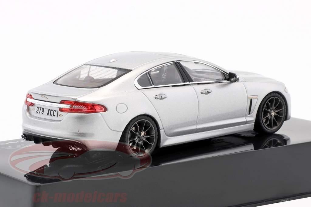 Jaguar XFR rhodium sølv 1:43 Ixo