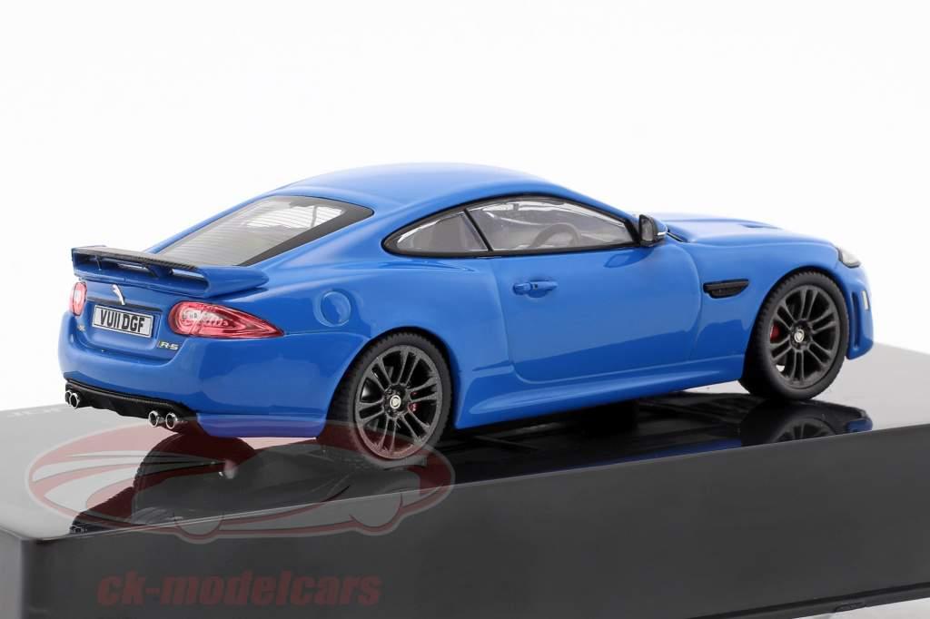Jaguar XKR-S Bouwjaar 2011 french racing blauw 1:43 Ixo